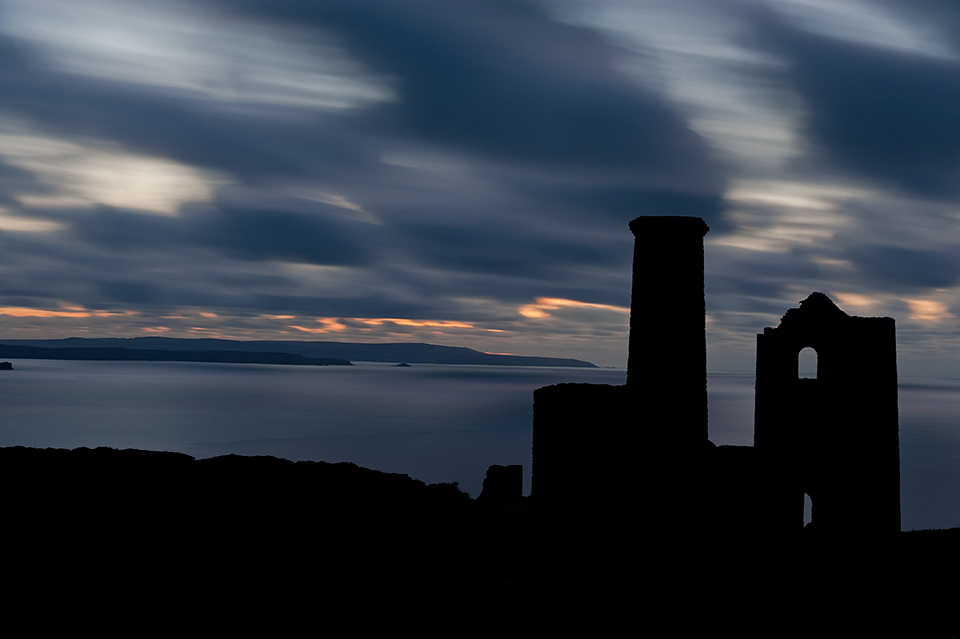 Winter Cloudscape - Wheal Coates Mine